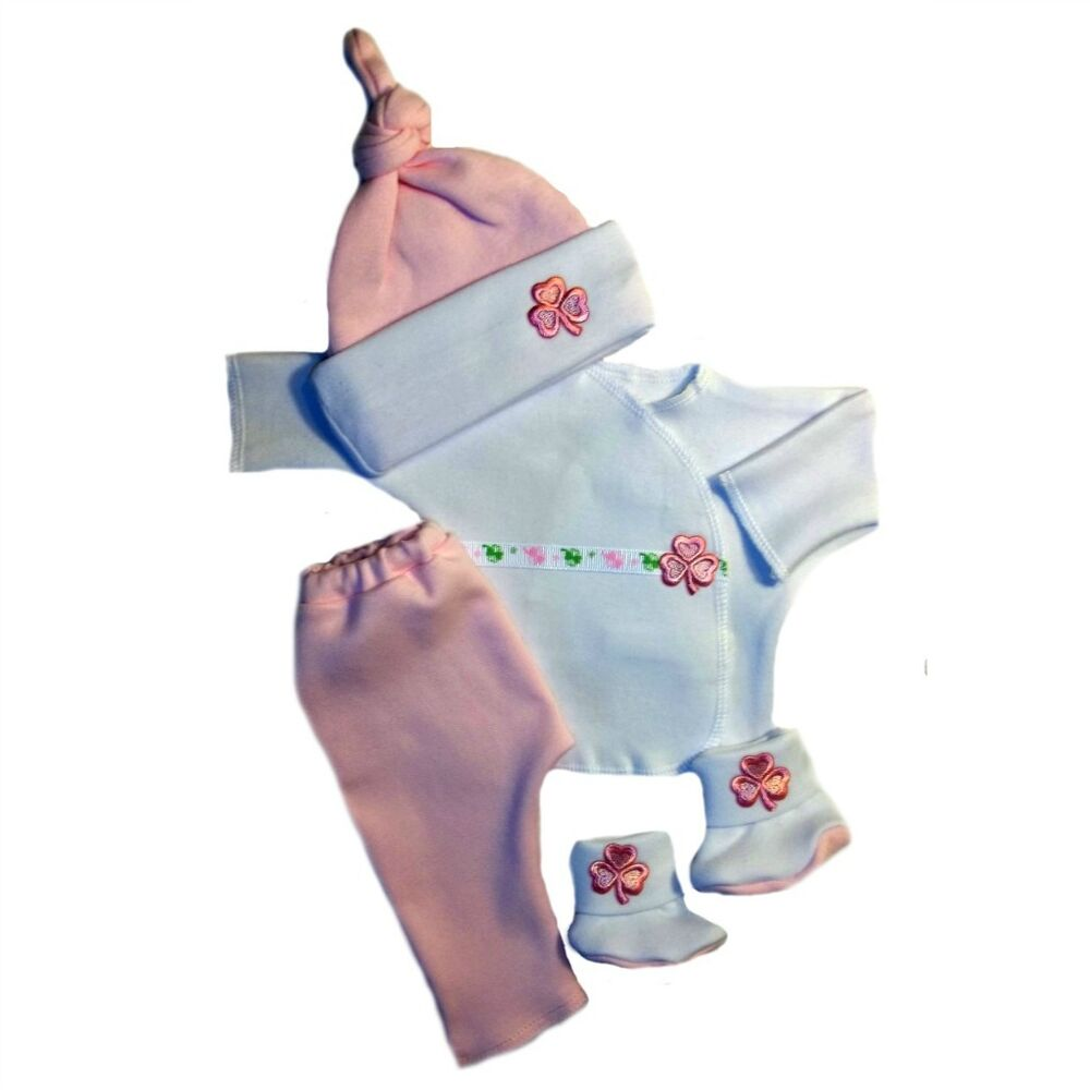 Premature Baby Gifts Ireland : Luck of the irish pink baby girl clothing outfit set