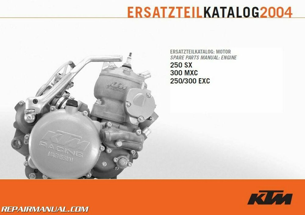 2004 ktm 250 300 sx mxc exc engine spare parts manual ebay
