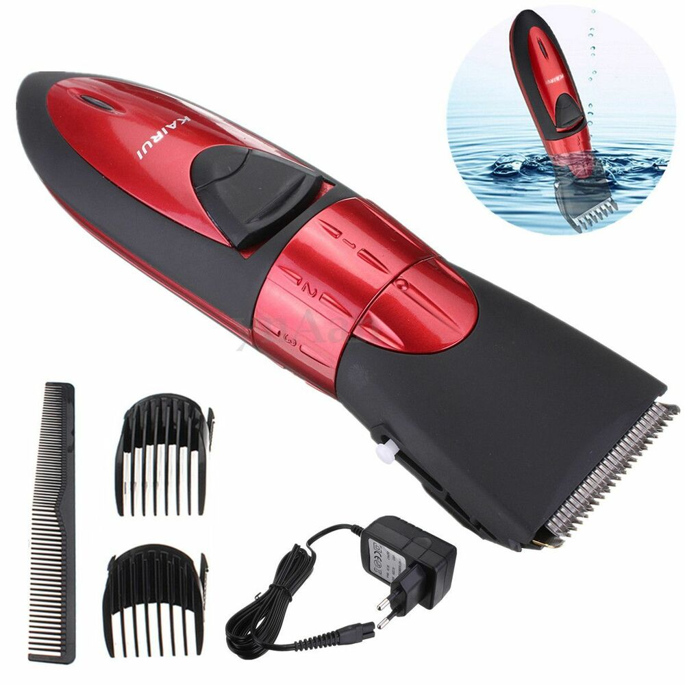 new washable electric rechargeable men 39 s shaver beard hair clipper trimmer set ebay. Black Bedroom Furniture Sets. Home Design Ideas