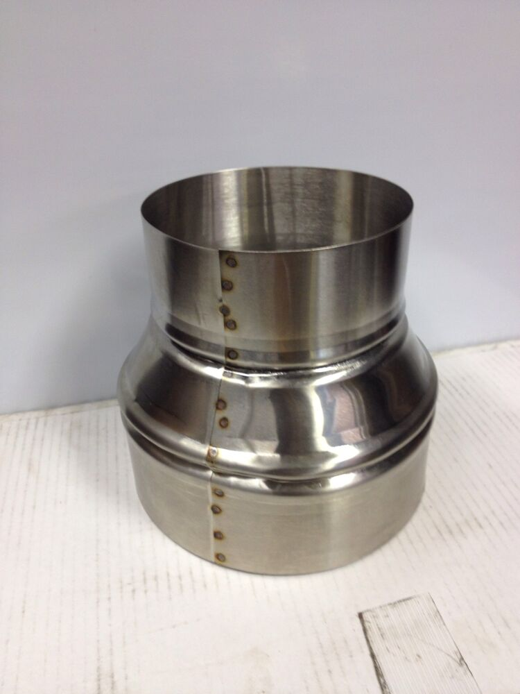 Inch to stove pipe stainless steel single wall