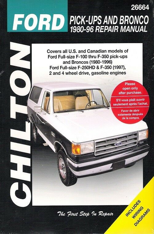 1987 1996 ford f150 f250 f350 superduty pickup bronco. Black Bedroom Furniture Sets. Home Design Ideas