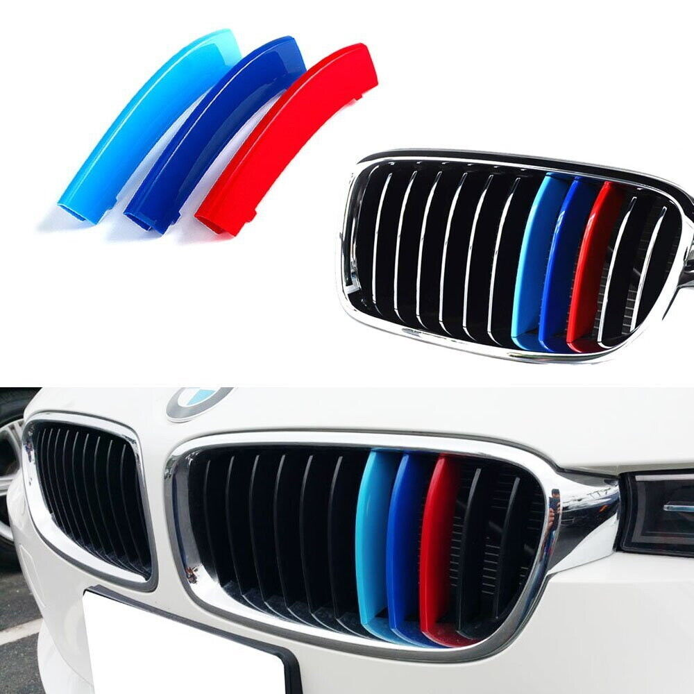 M sport 3 color grille insert trims for bmw f30 3 series for South motors bmw parts
