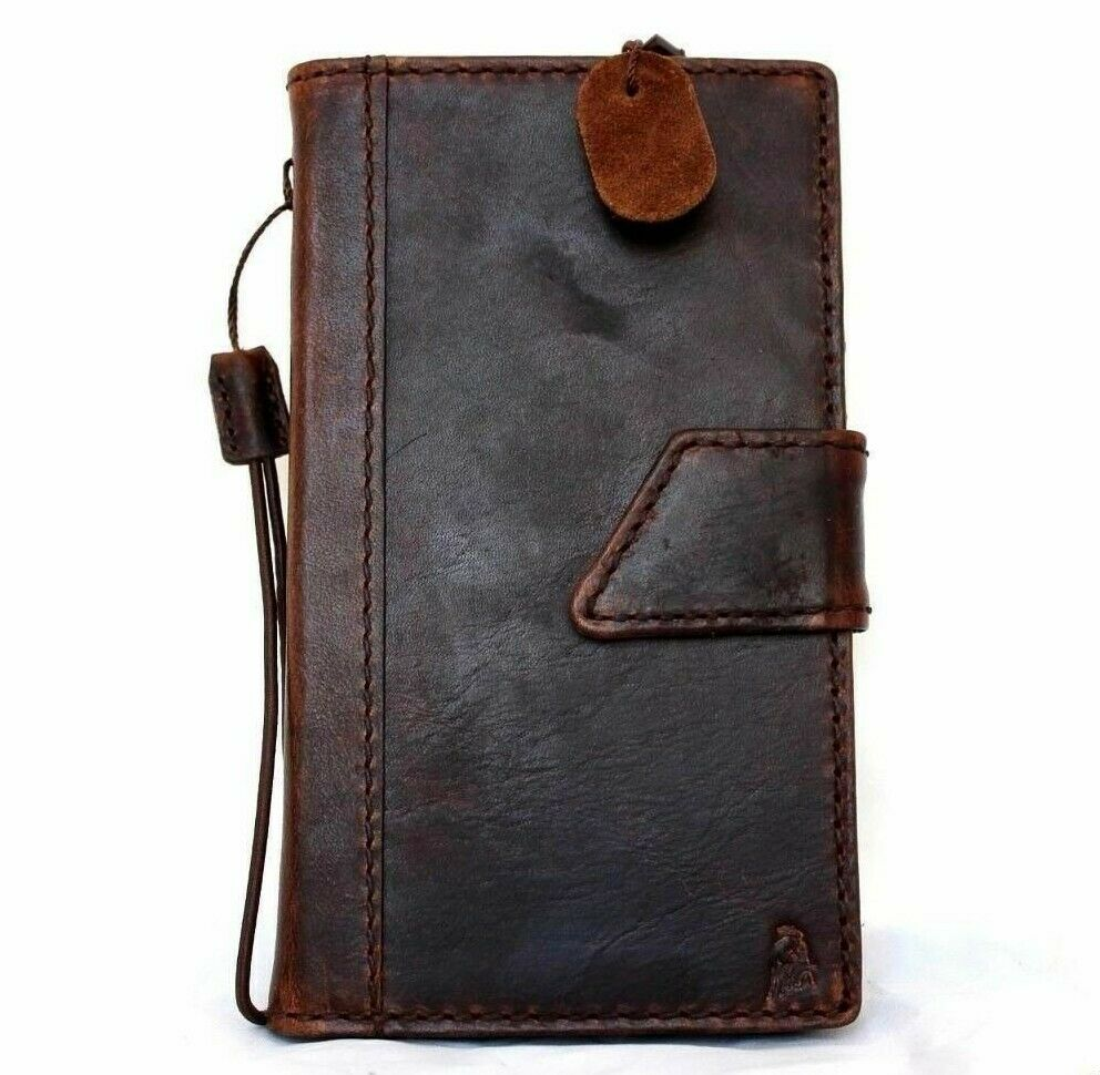 genuine leather Case for Samsung Galaxy Note 4 book wallet cover thin ...