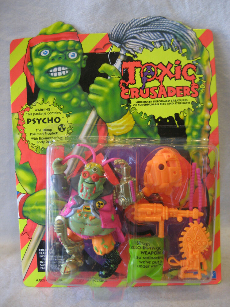 1991 Playmates Psycho Toxic Crusaders Action Figure 90s