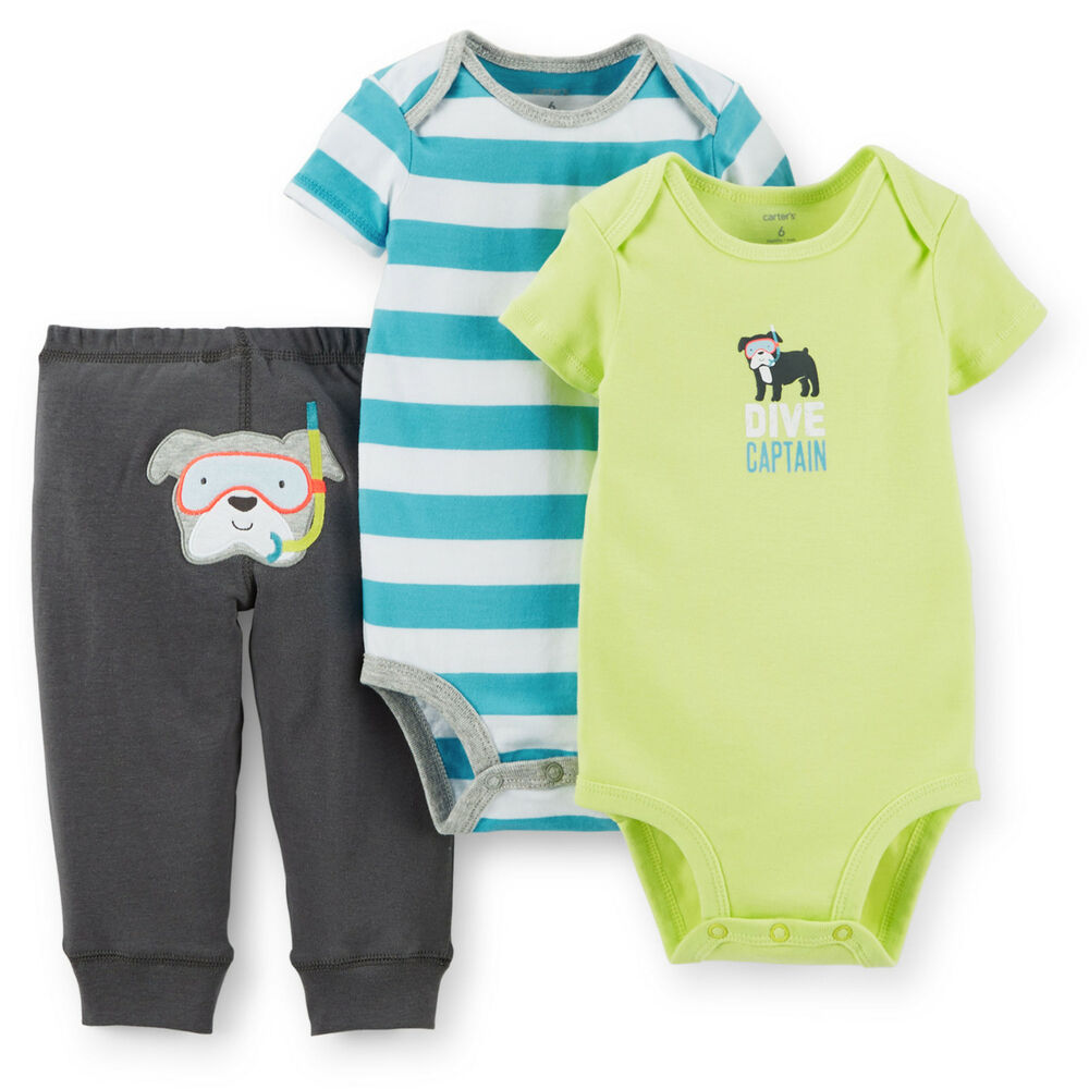 Carters 3 12 24 Months Puppy Bodysuit Pants Set Baby Boy