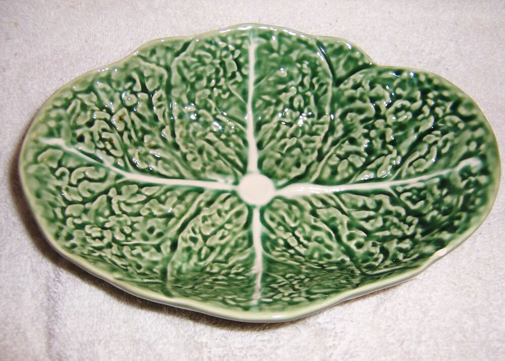 Bordallo pinheiro portugal cabbage leaf bowl nice ebay - Bordallo pinheiro portugal ...