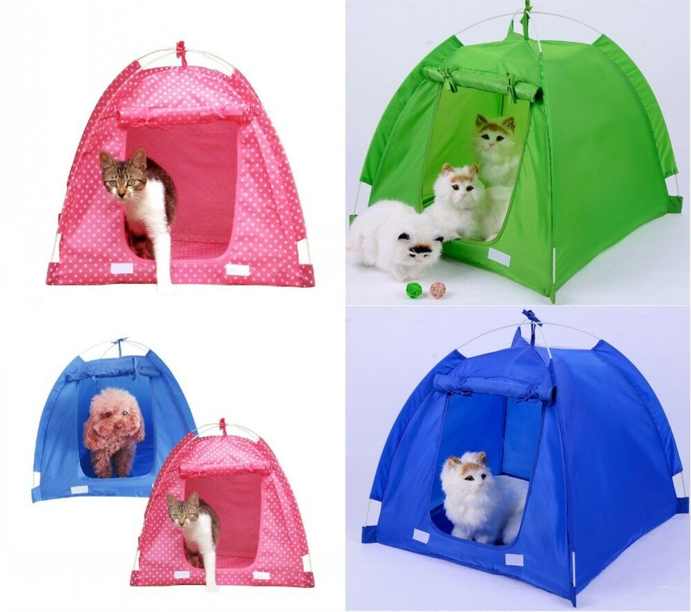 small dog cat puppy pet portable camping sun shelter tent house ebay. Black Bedroom Furniture Sets. Home Design Ideas
