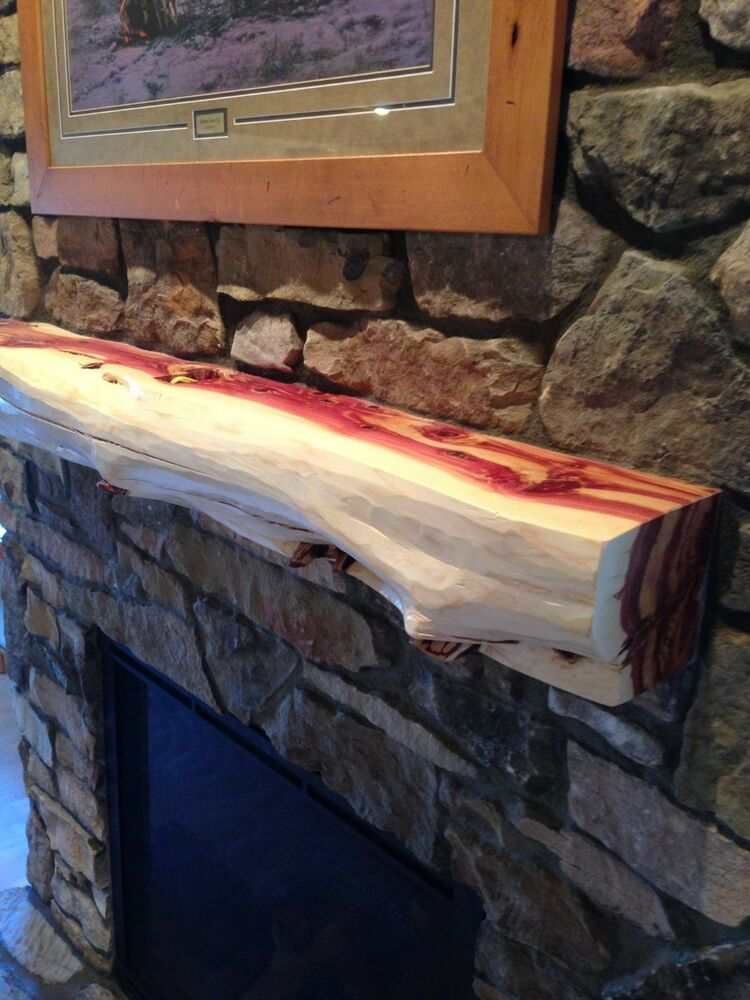 5 39 Red Cedar Fireplace Mantel Beam Log Rustic Juniper