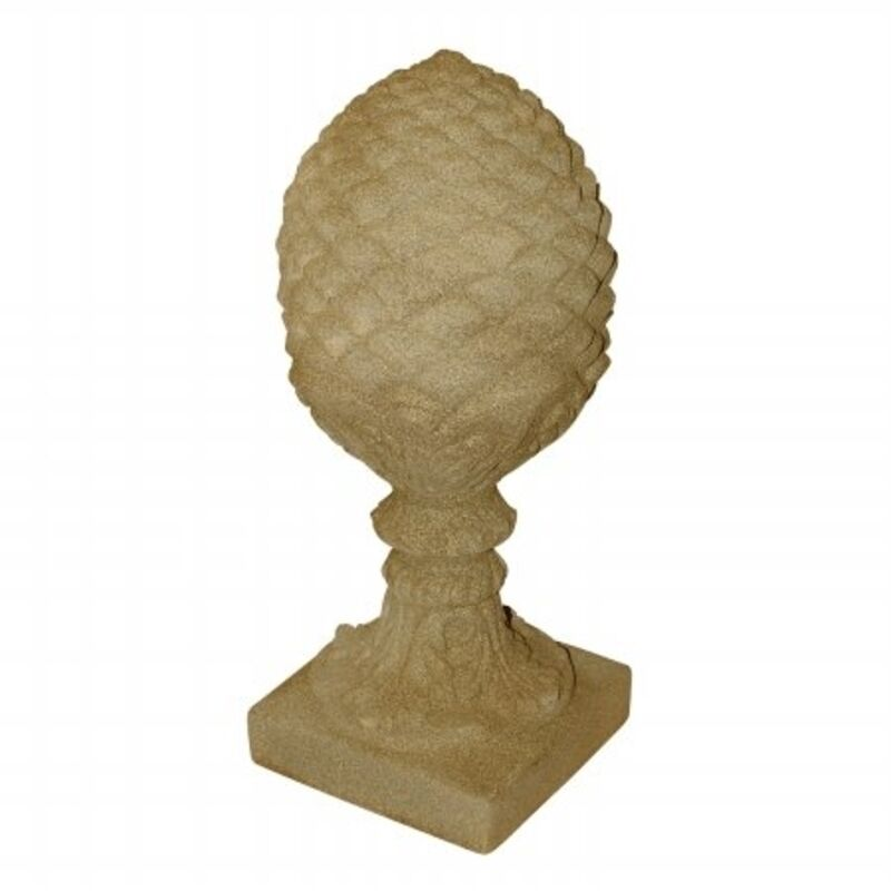 Emsco pineapple finial sand 2255 1 garden decor statues for Pineapple outdoor decor