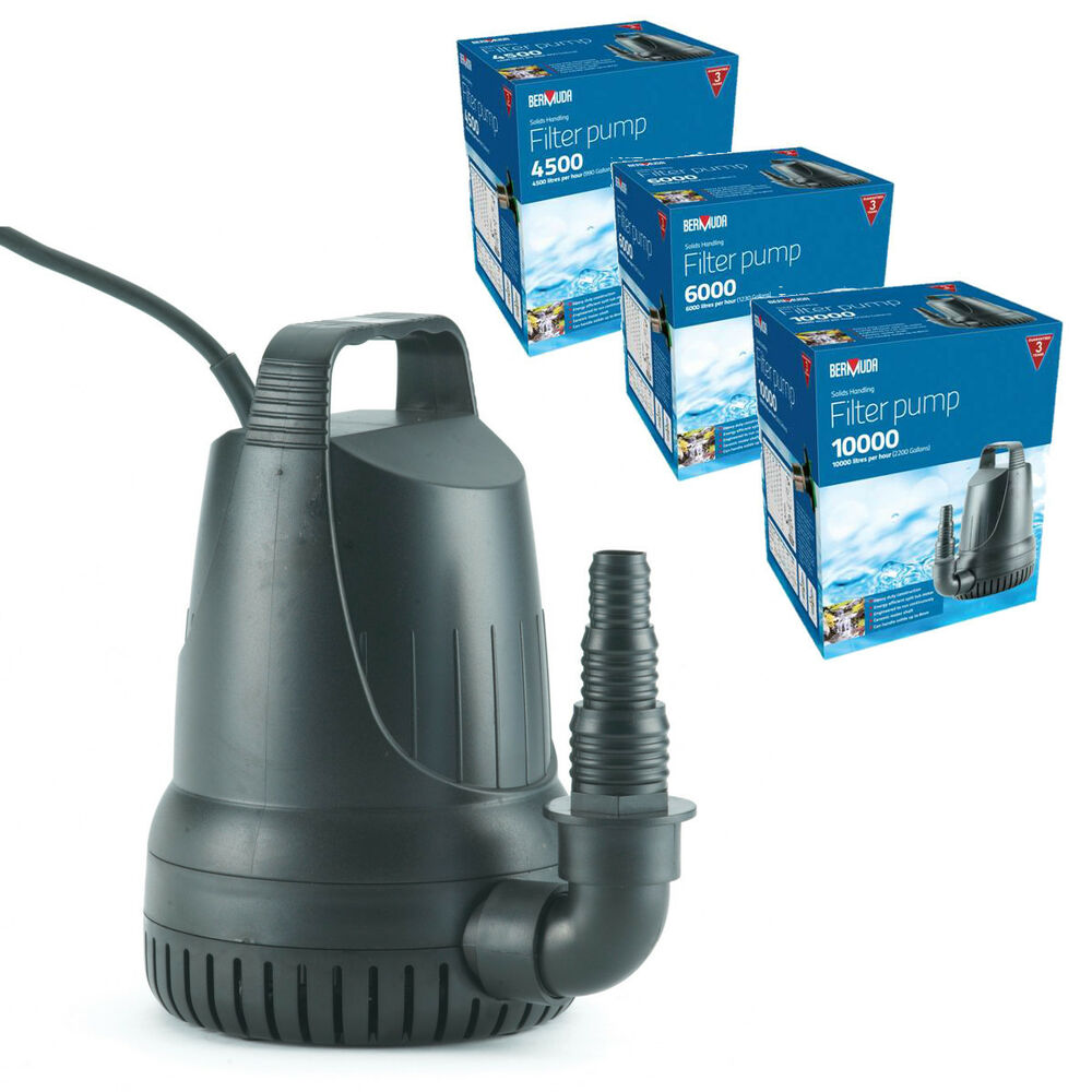 Bermuda filter sump submersible pond pump koi water for Outdoor fish pond filters and pumps