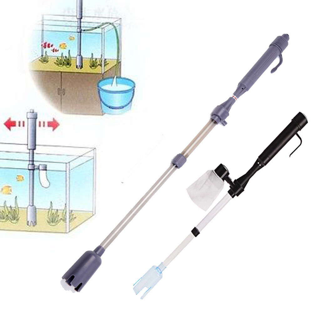Adjustable aquarium syphon auto fish tank vacuum gravel for Fish tank vacuum