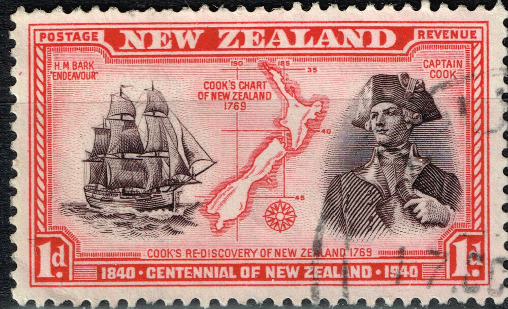 new zealand islands map cook stamp 1940 ebay. Black Bedroom Furniture Sets. Home Design Ideas