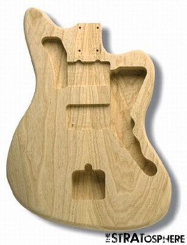 New fender lic jazzmaster body guitar natural ash for Fender jazzmaster body template
