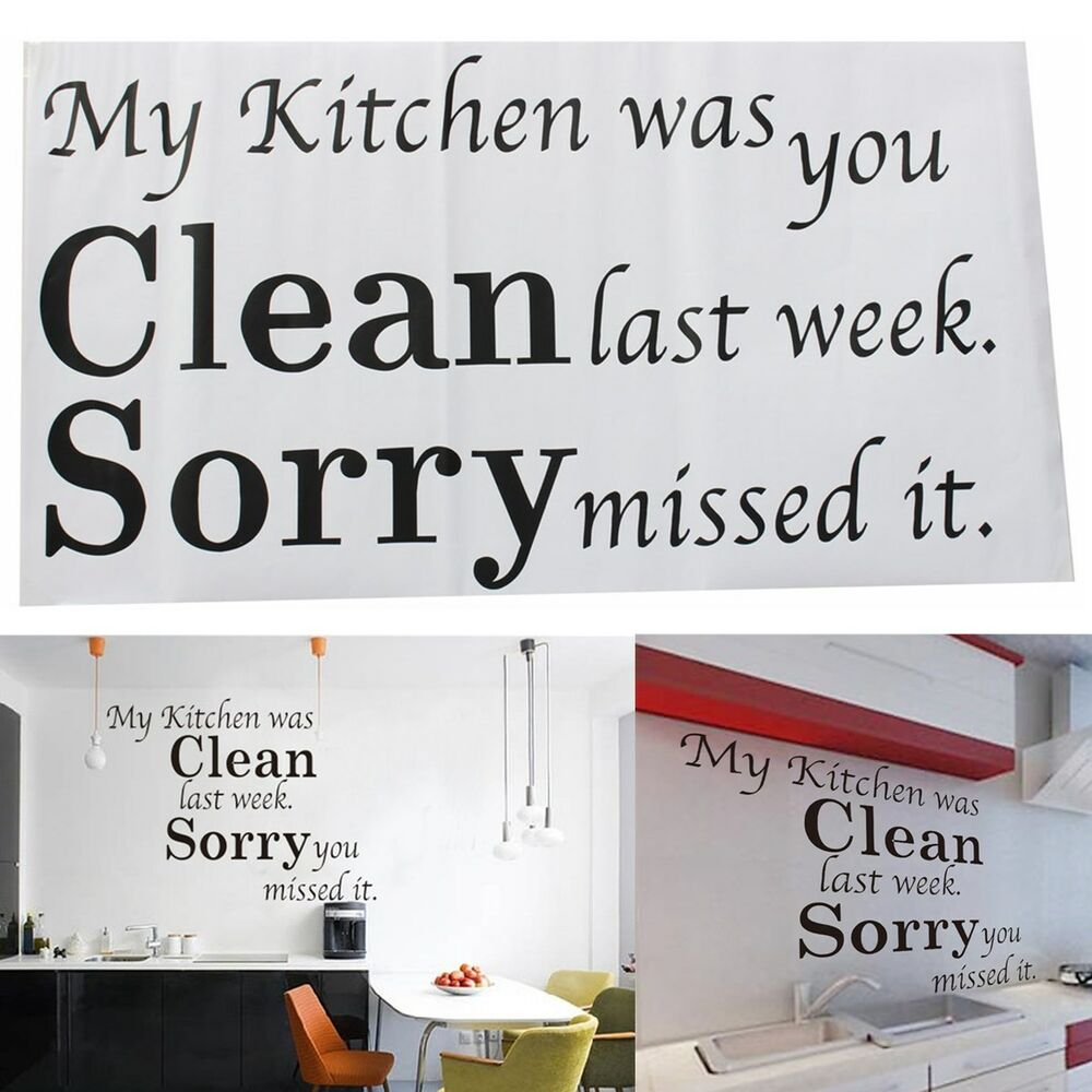 Kitchen Decor Words: DIY Removable Kitchen Words Wall Stickers Decal Home Decor