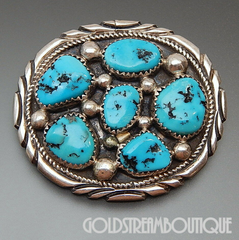 TOMMY MOORE NAVAJO STERLING SILVER KINGMAN TURQUOISE