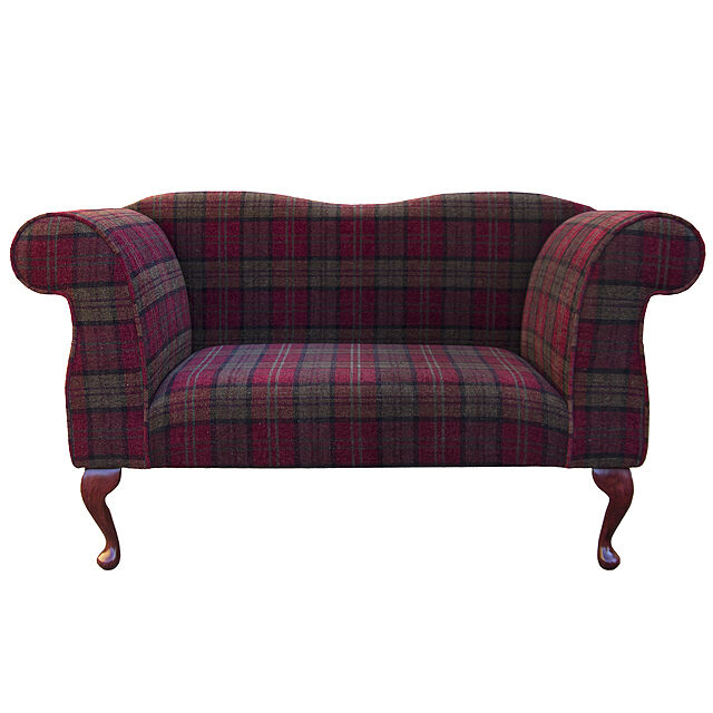 Double ended chaise longue chair in a red green lana Chaise longue double a bascule