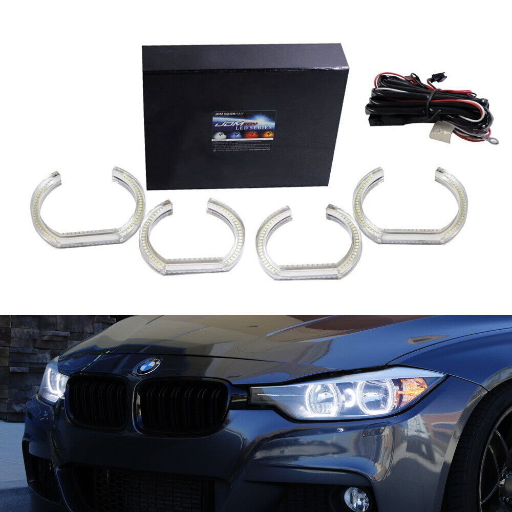 White Dtm Style Square Led Angel Eye Kit For Bmw F30 3