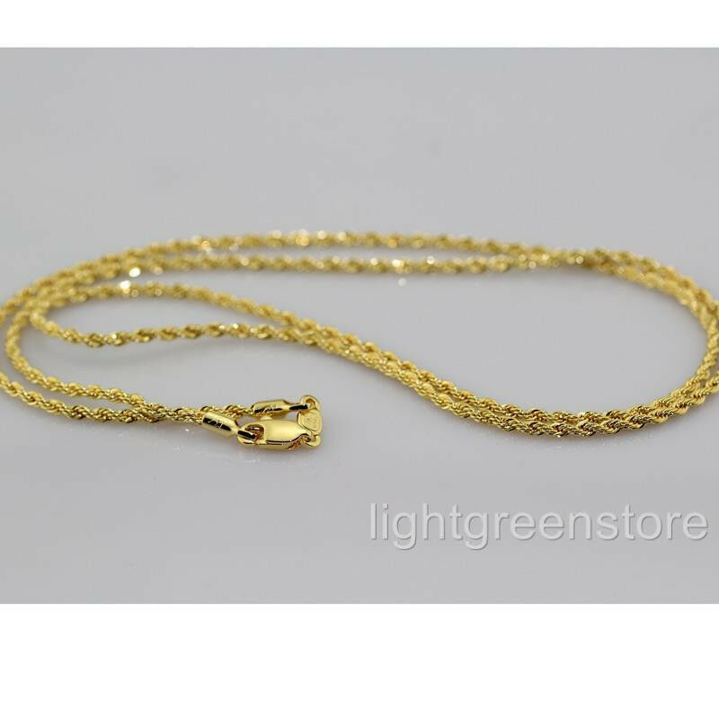 Thin Gold Chain Bracelet: Womens Mens 18K Yellow Gold Filled Knot Necklace Thin Rope