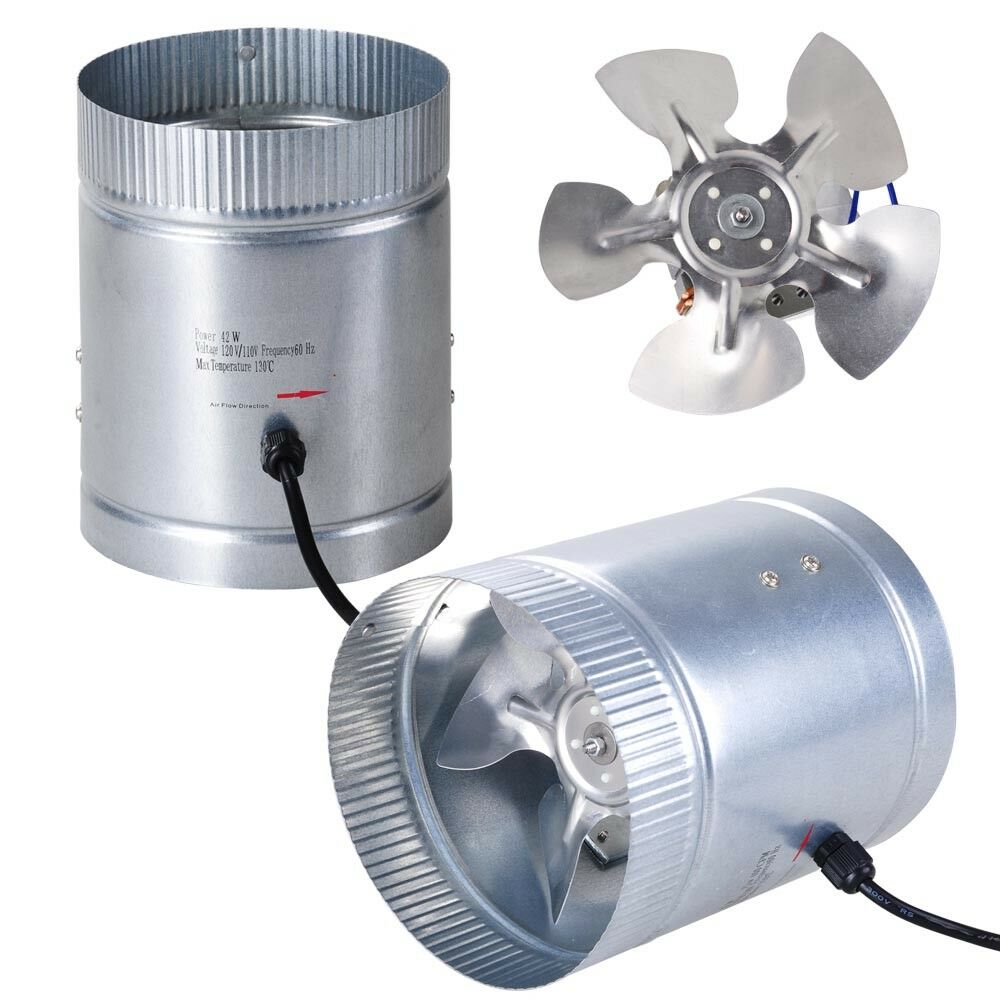 Inline Duct Vent : Pack quot inline duct booster fan cfm cooling exhaust