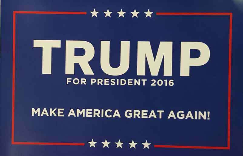 donald trump for president 2016 campaign poster sign ebay. Black Bedroom Furniture Sets. Home Design Ideas