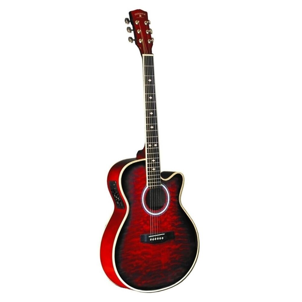 indiana madison deluxe quilt red mad qtrd electric guitar new ebay. Black Bedroom Furniture Sets. Home Design Ideas