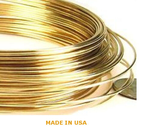 1 Foot Solid 14k Yellow Gold 28 Gauge Round Wire Brand New
