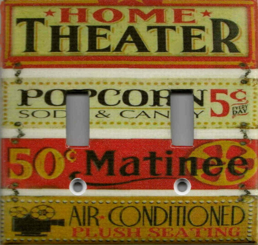 Home Theater Movie Signs Home Theater Home Decor Double