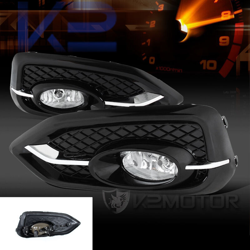 2014 2015 honda civic 2dr coupe clear bumper fog lights switch bulbs