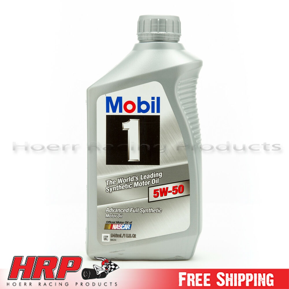mobil 1 5w 50 synthetic motor oil 1 quart ebay