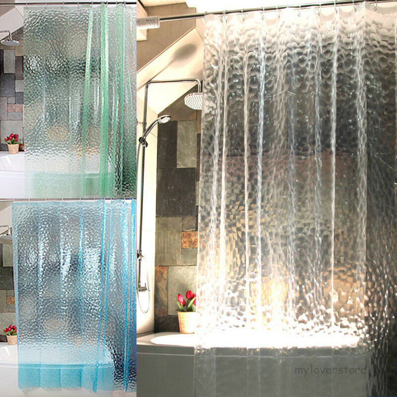 3d Water Cube Design 72 Shower Curtain Bathroom Waterproof Eva Fabric 12 Hooks Ebay