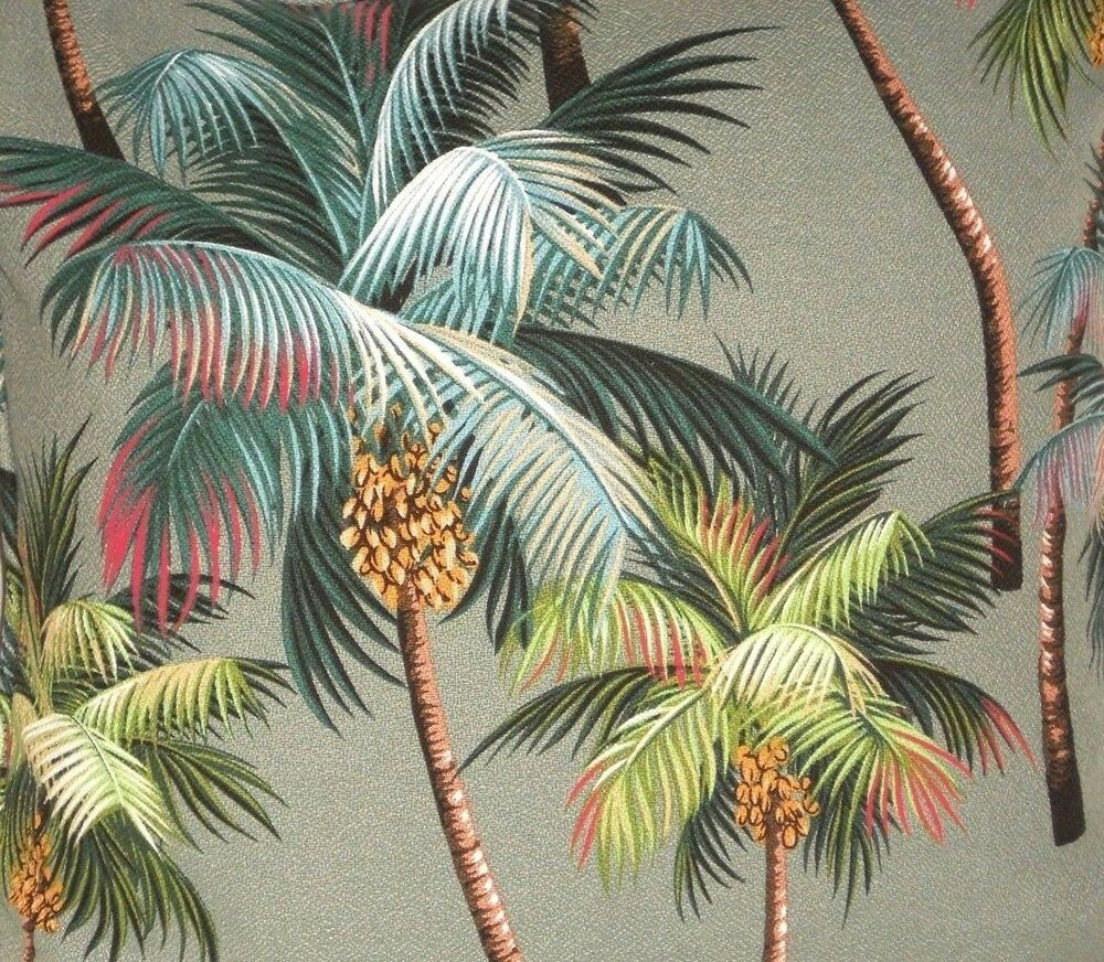 1 2 Yard 18x55 Tropical Hawaiian Barkcloth Upholstery