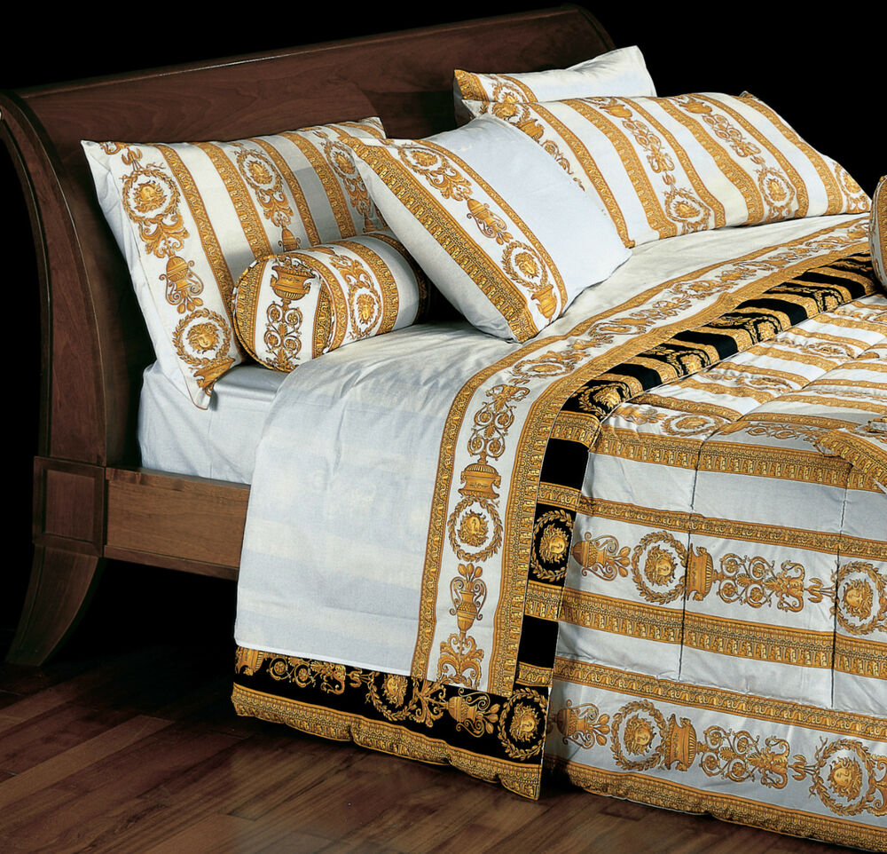 Versace Medusa Queen Size White Bed Duvet Cover Amp Sheet
