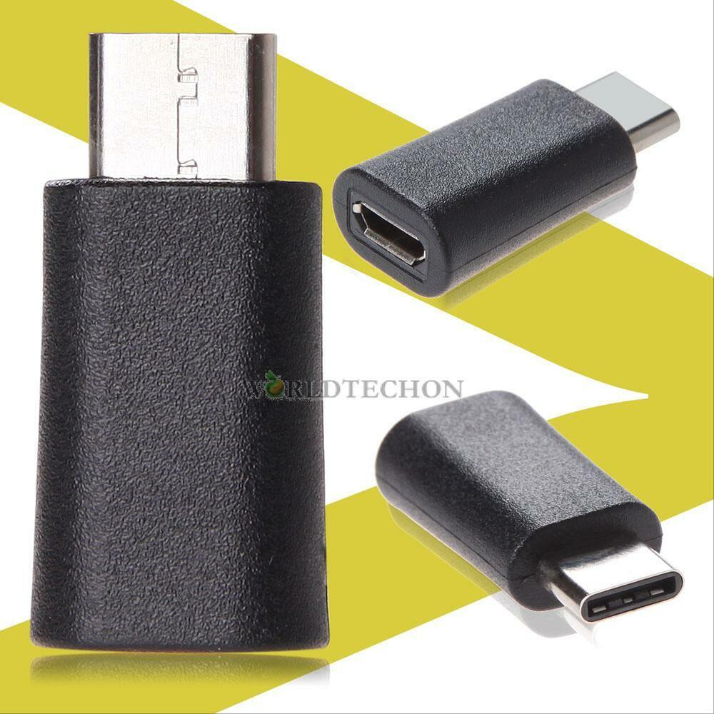 usb 3 1 type c male to micro usb female converter usb c adapter usb type black 714890534353 ebay. Black Bedroom Furniture Sets. Home Design Ideas