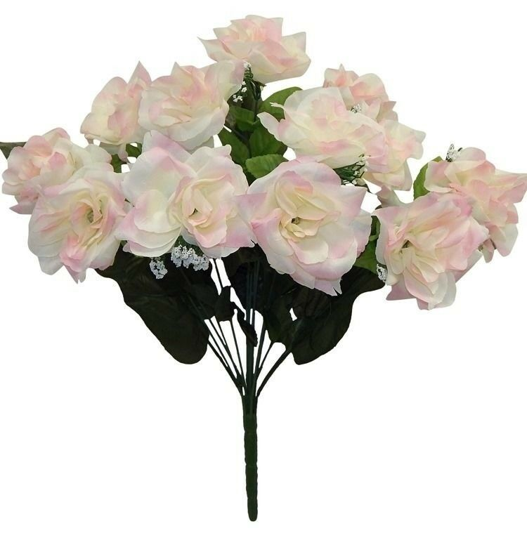 How Long Should Bridal Bouquet Stems Be : Open roses cream pink long stem wedding bouquets