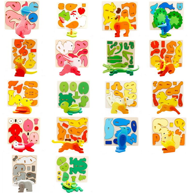 Toddler Toys Puzzle : Set kids baby toddler puzzle d blocks diy educational