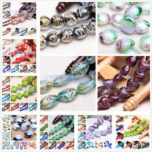 Wholesale 10pcs Lampwork Glass Charms Loose Spacer Beads Jewelry Findings