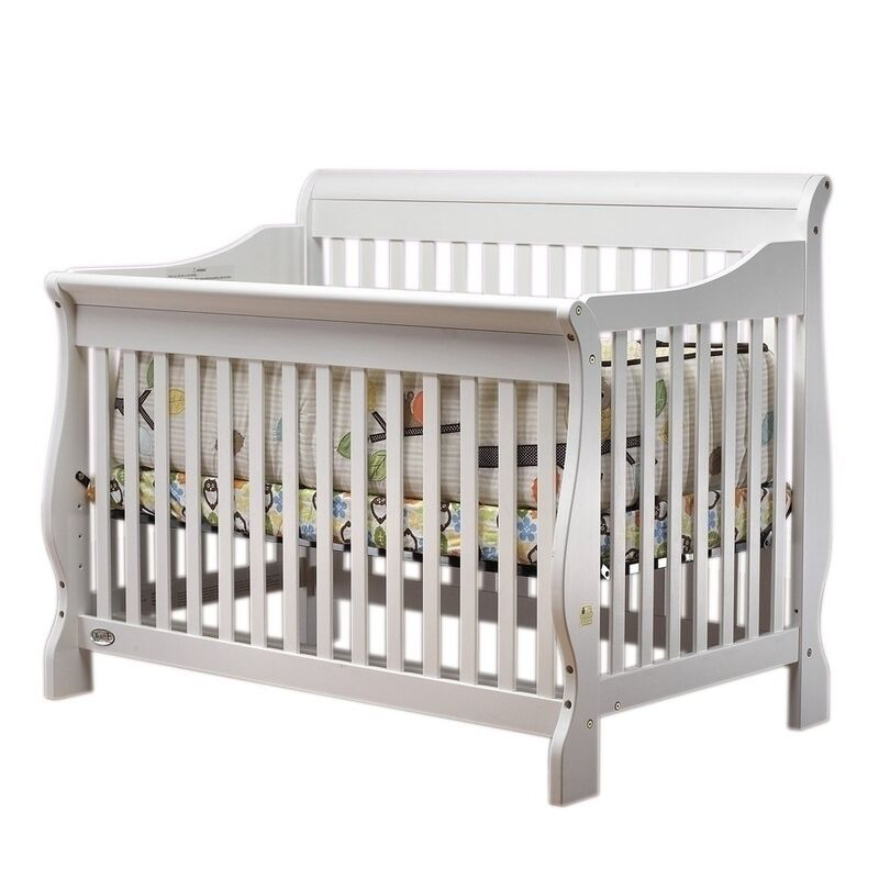 Orbelle Sleigh Crib No White 314w Baby Crib New Ebay