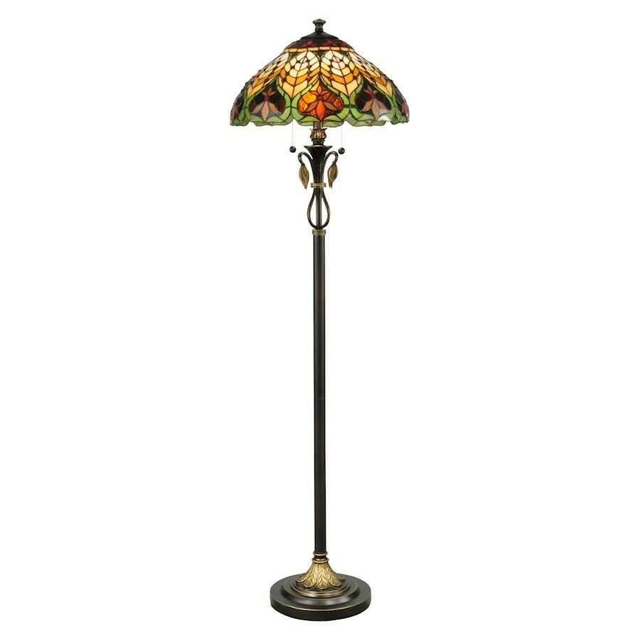 Dale Tiffany Sir Henry Floor Lamp Antique Brass Tf50012