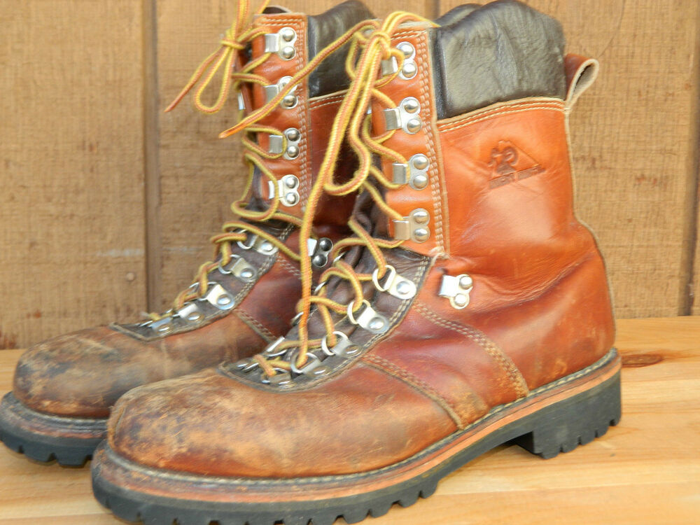 1980 S Brown Leather Insulated Work Boots By Rocky Boots