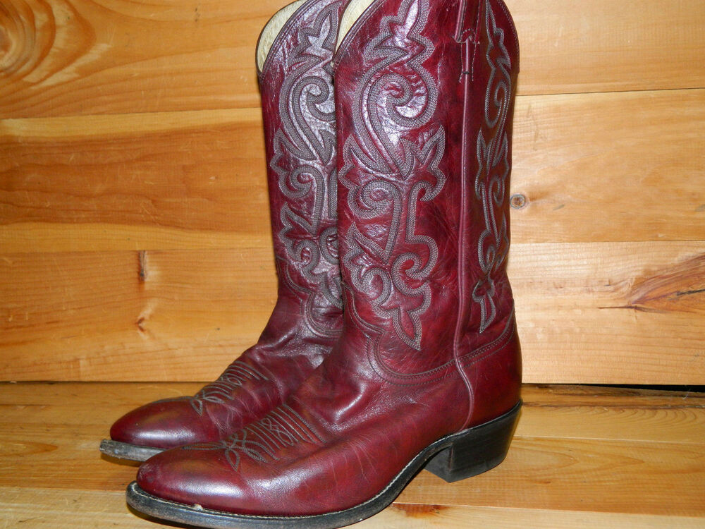845677c6c5a 1990 s Brown Leather Western Style Boots By Justin Size 10