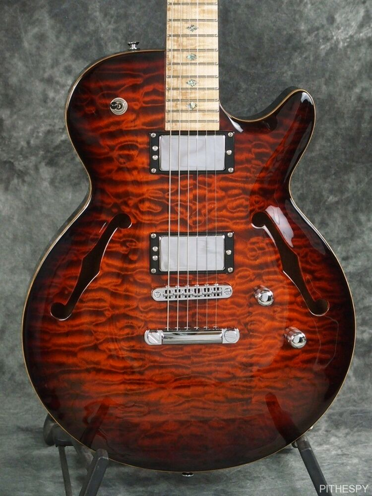 carvin sh550 semi hollow carved top jazz guitar quilted maple 6 string with case ebay. Black Bedroom Furniture Sets. Home Design Ideas