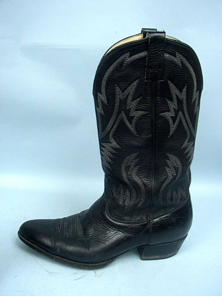 Stagecoach Bootmakers Black Leather Western Boots Size 9
