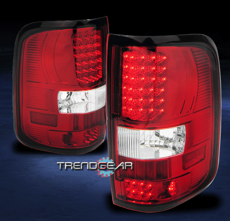 2004 2008 ford f 150 styleside led tail lights lamp red. Black Bedroom Furniture Sets. Home Design Ideas