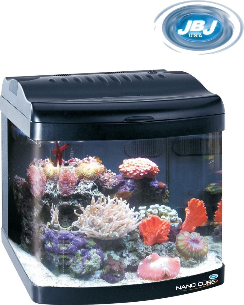 jbj nano cube 12 gallon standard deluxe aquarium fish tank nanocube ebay. Black Bedroom Furniture Sets. Home Design Ideas
