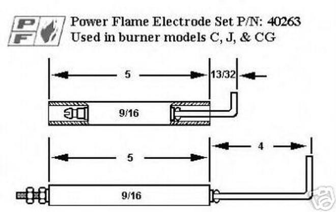 crown 40263 power flame gas electrode and flame rod kit Basic Wiring Diagram s l1000