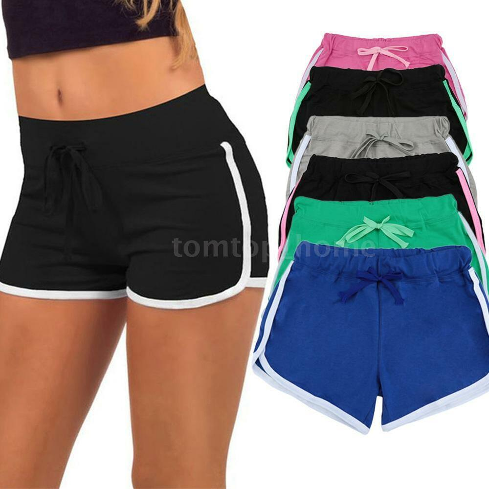 Women's Lady Jersey Hot Pants Running Shorts Gym Beach