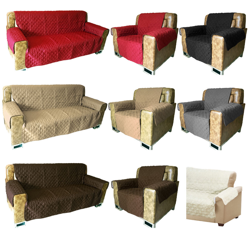 SOFA ARM CHAIR FURNITURE PET DOG PROTECTOR QUILTED SLIP ...