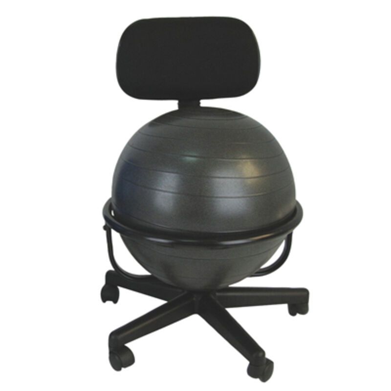 CanDo Ball Chair Metal Mobile with Back no Arms with 22