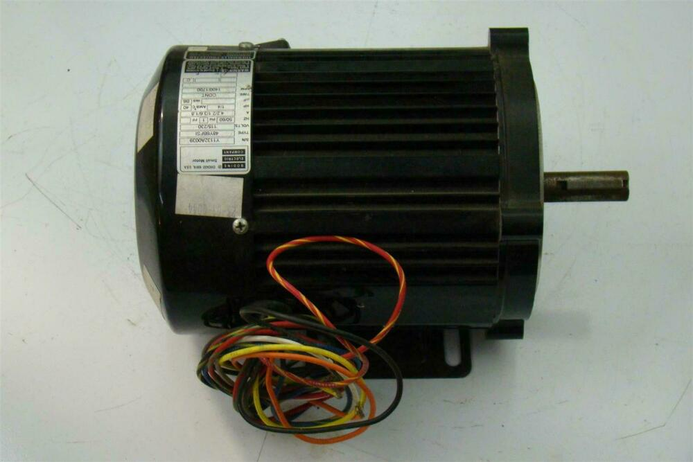 bodine electric company small motor 115 230v ph1 1400