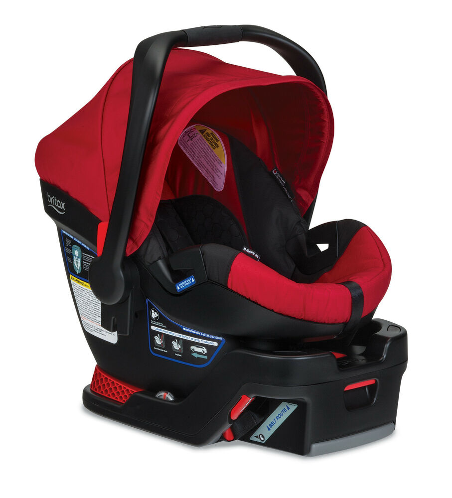 britax b safe 35 infant car seat in red brand new ebay. Black Bedroom Furniture Sets. Home Design Ideas